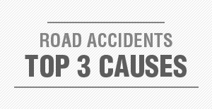 Top 3 causes of road accidents